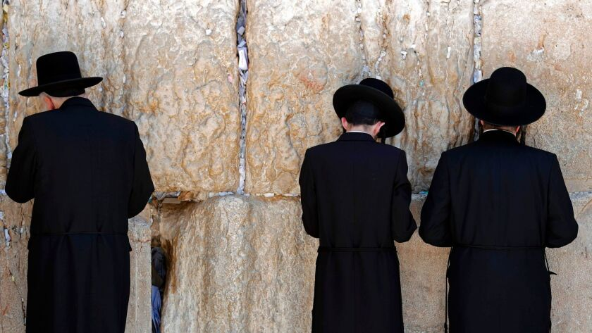 Following Orthodox tradition, the current Western Wall plaza is divided into two sections for men and women to pray separately.