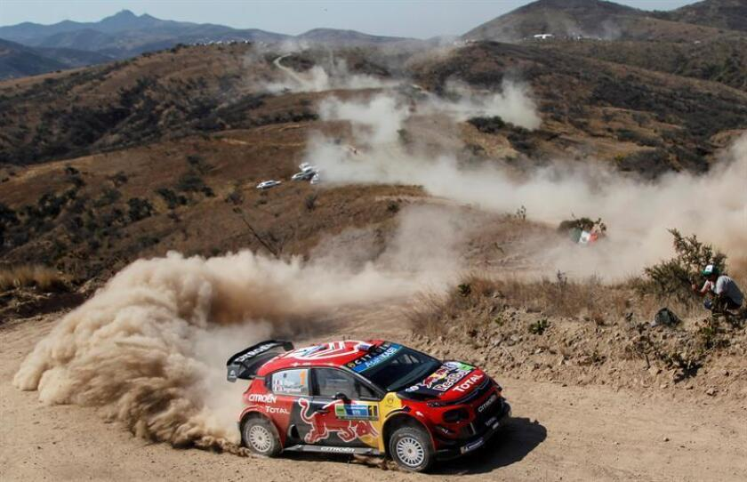 French driver Sebastien Ogier and co-driver Julien Ingrassia in their Citroen Total WRT during the first stage of the XVI Rally Guanajuato Mexicoo, between El Chocolate and Silao, in Leon, Guantajo, Mexico, 08 March 2019. EPA-EFE/FRANCISCO GUASCO