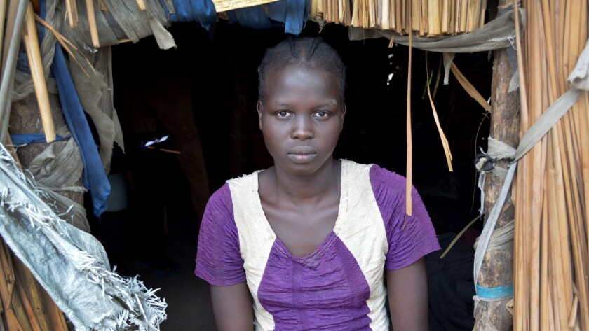 Margaret Nyamuka, 18, witnessed many horrors when government soldiers attacked her town of Mayendit last year. She saw soldiers drag 11 people into a house and set it alight, a sight reported by numerous survivors in different areas.