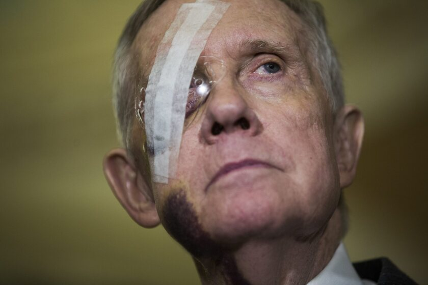 Serious injuries suffered while exercising have called into question Senate Democratic Leader Harry Reid's intentions to run again in 2016, despite his repeated statements that he plans to seek a sixth term.