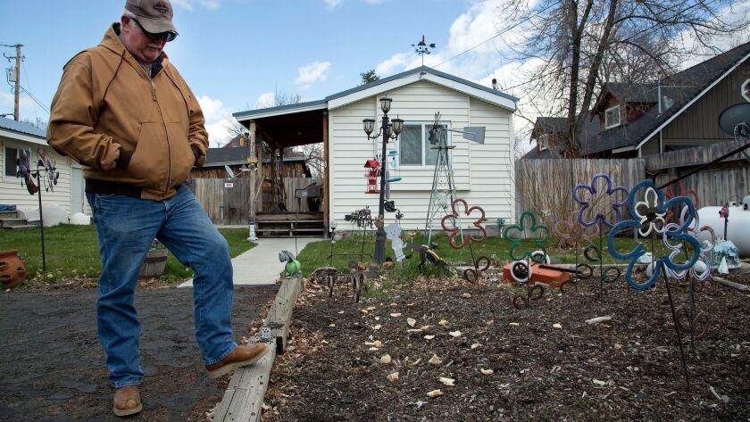 LOYALTON, CA - MARCH 30, 2017: Loyalton city retiree John Cussins had his pension cut by 60 percent