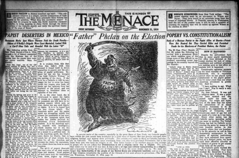 Menace newspaper
