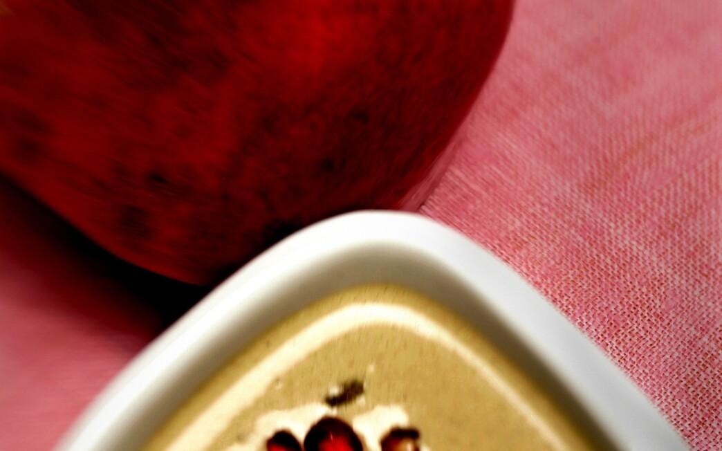 Walnut soup with poblanos and pomegranate
