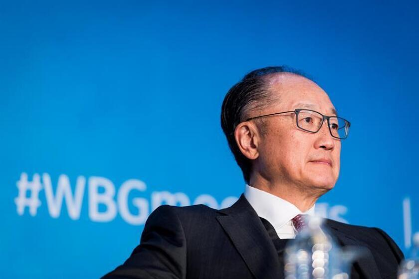 Jim Yong Kim, President of World Bank Group, participates in a panel discussion about human capital invrstment as a project for the world, during the IMF World Bank Spring Meetings at the World Bank Group headquarters in Washington, DC, USA, 21 April 2018. EPA/EFE/File
