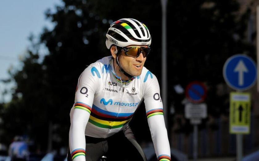 El corredor español del equipo Movistar Alejandro Valverde. EFE/Archivo