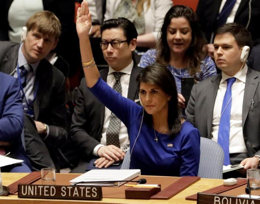 United States Ambassador to the UN Nikki Haley. EFE/EPA/FILE