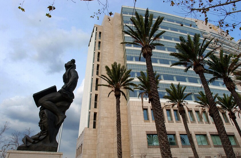The Ronald Reagan Federal Building and U.S. Courthouse in Santa Ana.