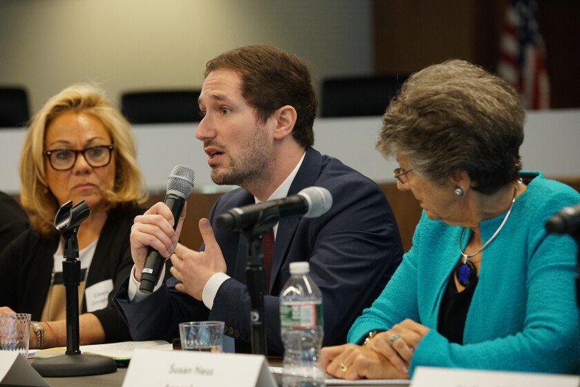 Clement Wolf, Google's global public policy leader for information integrity, speaks Tuesday at a symposium on digital disinformation hosted by the Federal Election Commission.