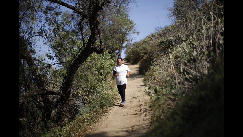 Dante's Trail in Kenneth Hahn park is challenging but runnable.