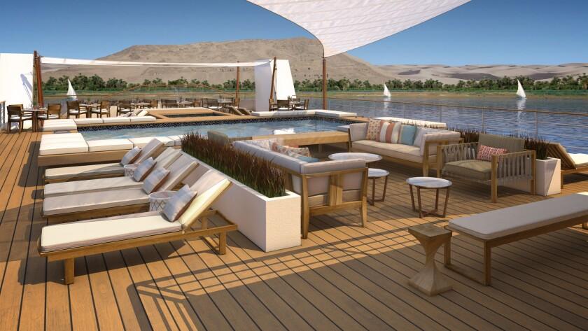 ***RENDERING*** Pool deck on the Viking Ra.