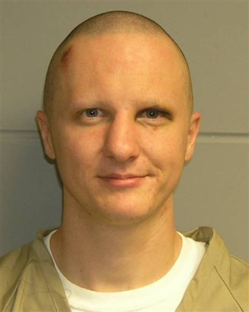 FILE - This photo released Tuesday, Feb. 22, 2011, by the U.S. Marshal's Service shows Jared Lee Loughner, the suspect in the Tucson shooting rampage that killed six people and left several others wounded, including then-U.S. Rep. Gabrielle Giffords. A federal judge has called a hearing in San Diego to determine whether Loughner should remain at a federal prison facility where officials are forcibly medicating him (AP Photo/U.S. Marshal's Office, File)