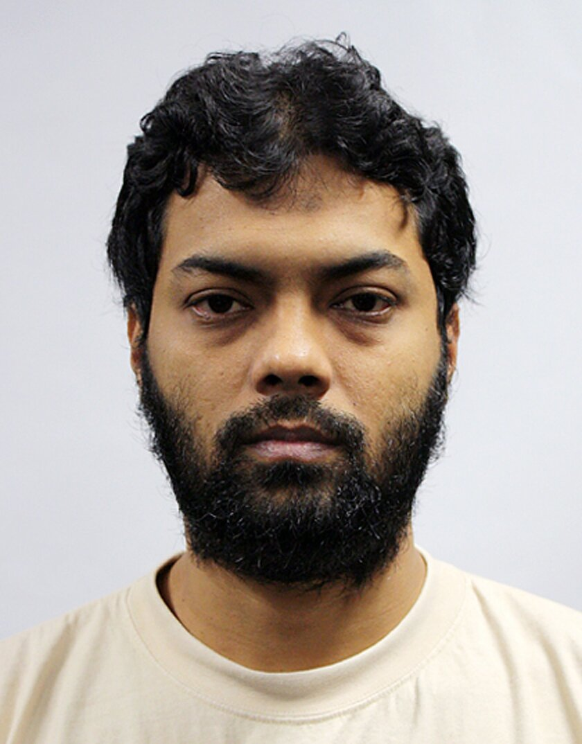 This undated photo released by the Ministry of Home Affairs shows Rahman Mizanur, one of four Bangladeshi men convicted in a Singapore Court on Tuesday, May 31, 2016, in Singapore.  Mizanur and the three other men held on suspicion of planning attacks linked to the Islamic State group in their own