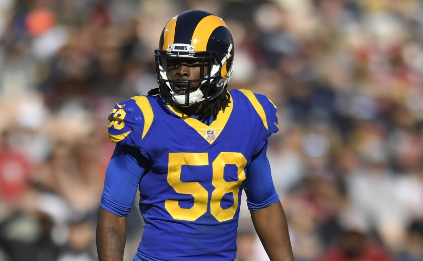Rams linebacker Cory Littleton reportedly has agreed to a three-year, $36-million deal with the Las Vegas Raiders.