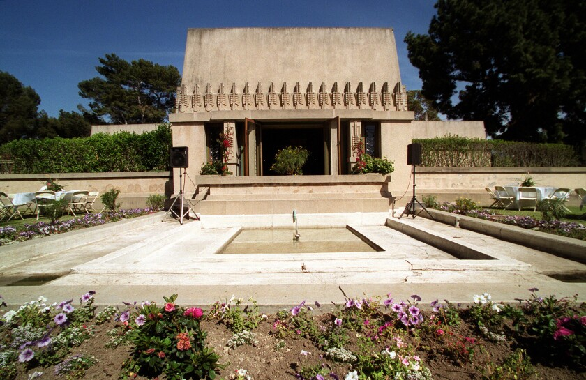 Frank Lloyd Wright's 1921 Hollyhock House, the first house the architect built in Los Angeles, has just received a makeover restoring some of its original architectural details.