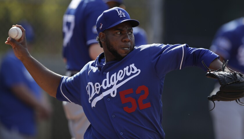 The Dodgers placed reliever Pedro Báez on the injured list Thursday.