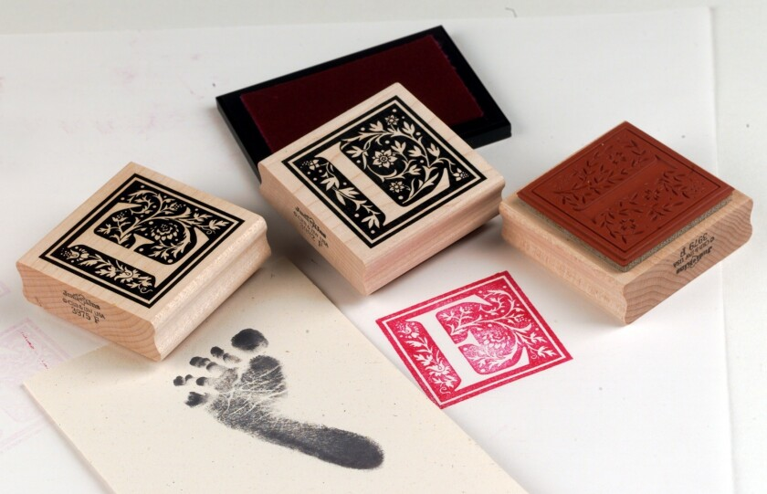 Thumb prints and feet prints
