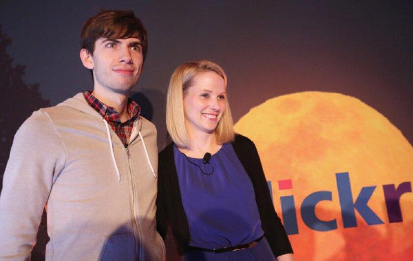 Tumblr founder David Karp with Yahoo CEO Marissa Mayer