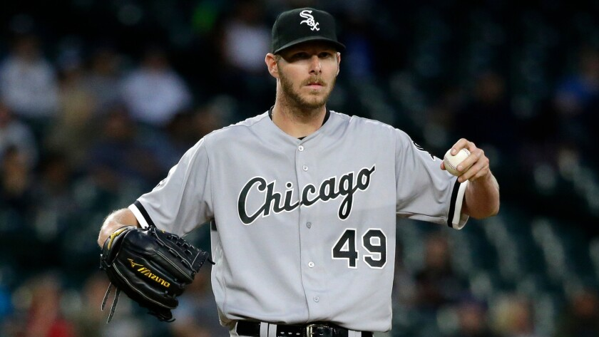 superior quality e7577 f3a2c White Sox suspend ace Chris Sale after he destroyed ...