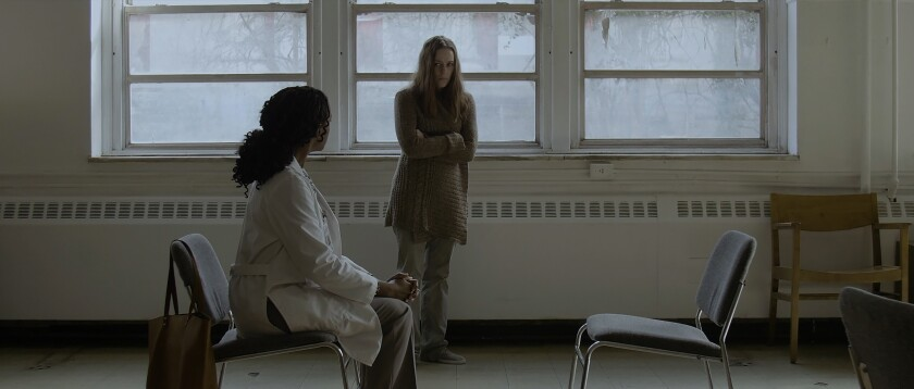 Kelsey Scott, left, and April Billingsley in the movie 'The Dark Red'