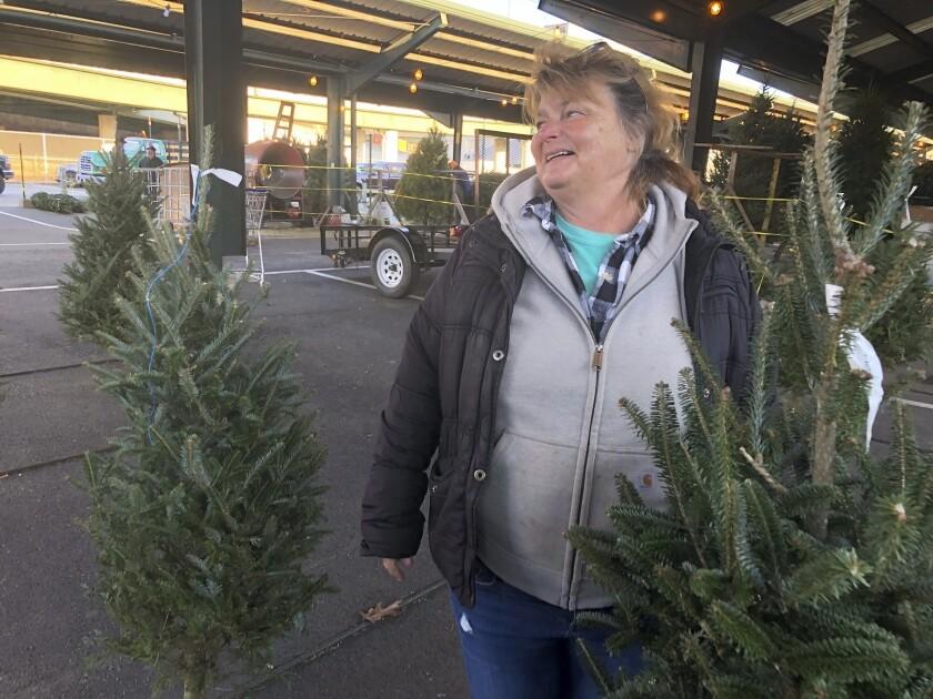 Christmas tree seller Sandy Parsons