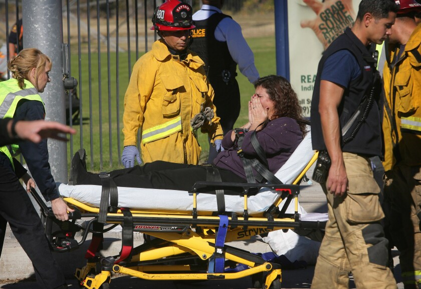 Moments after San Bernardino massacre, the grim task of distinguishing the living from the dead