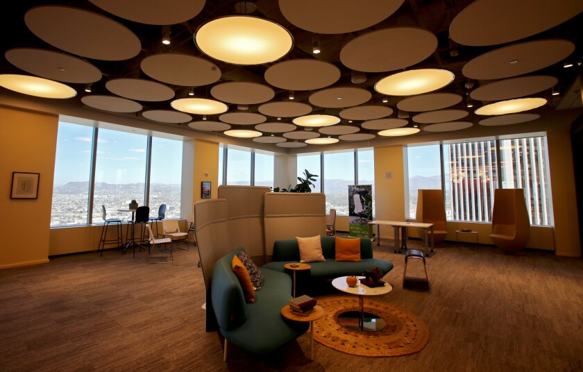 The top floor of the Citigroup Center building serves as a model for future workspaces.