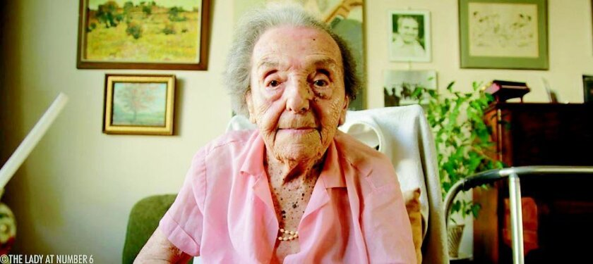 """Aliza Sommer-Herz, the oldest known survivor of the Holocaust at the time """"The Lady in Number 6"""" was filmed, died recently at the age of 110."""
