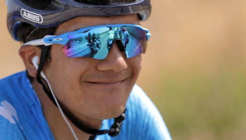 El corredor ecuatoriano del equipo Movistar, Richard Carapaz. EFE/Archivo