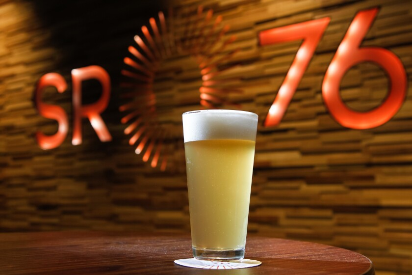Supul is a Saison-style beer at SR76 Beerworks at the Harrah's Resort Southern California.
