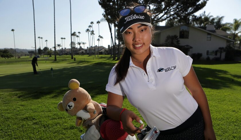 Golfer Angela Ding of Carlsbad's Pacific Ridge High has competed against the boys during her prep career.