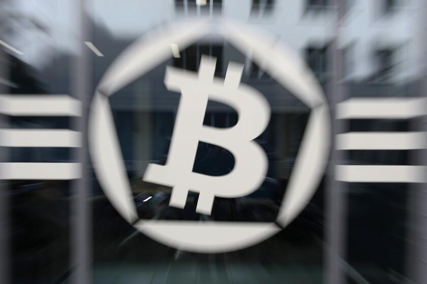 Entrance of La Maison du Bitcoin in Paris.