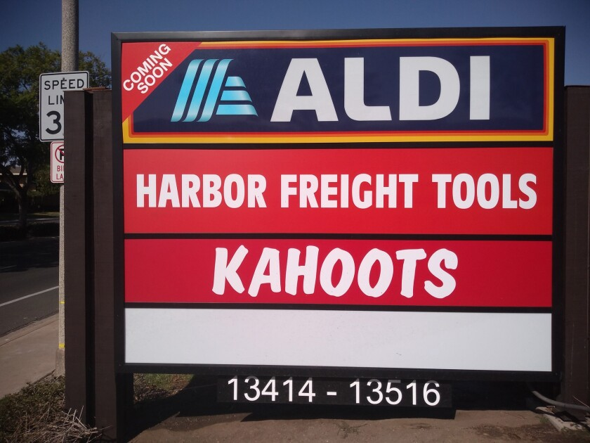 Aldi and Harbor Freight Tools will be opening soon in Poway.