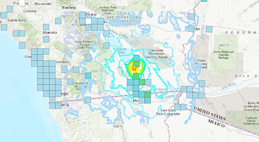 A magnitude 5.1 earthquake broke at 5:31 p.m. Wednesday near the Salton Sea