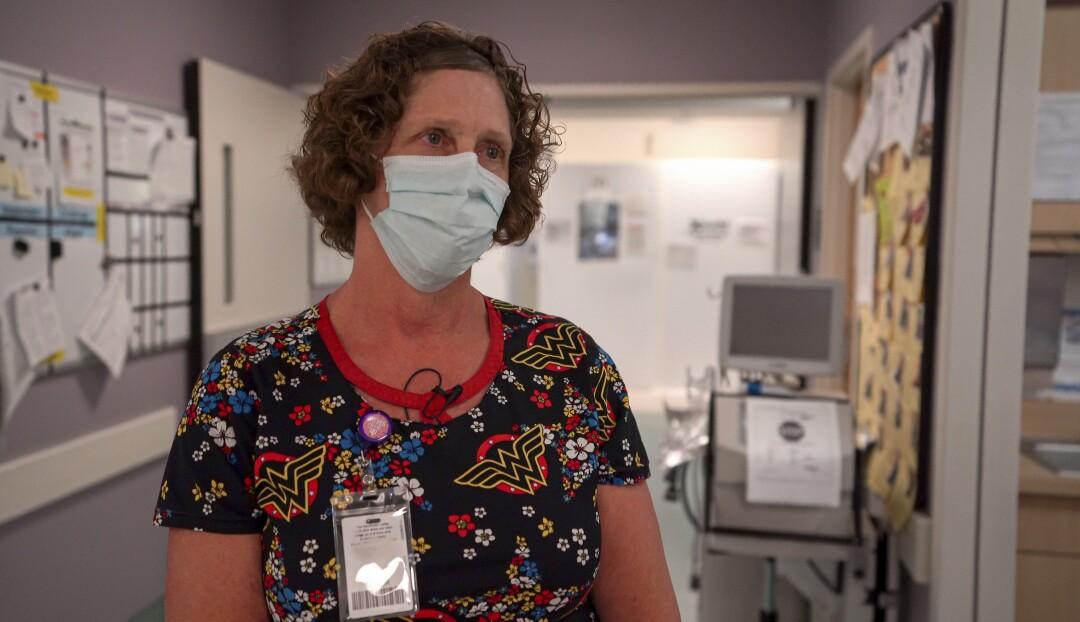 Terry Taylor, enfermera jefe de atención al paciente en el Hospital Scripps Mercy de Chula Vista.