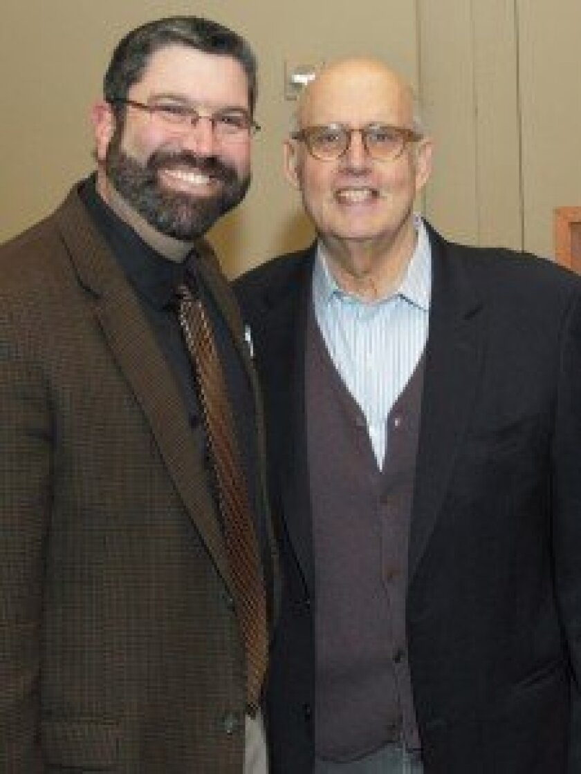 Rabbi David Kornberg and actor Jeffrey Tambor. Photo/Jon Clark