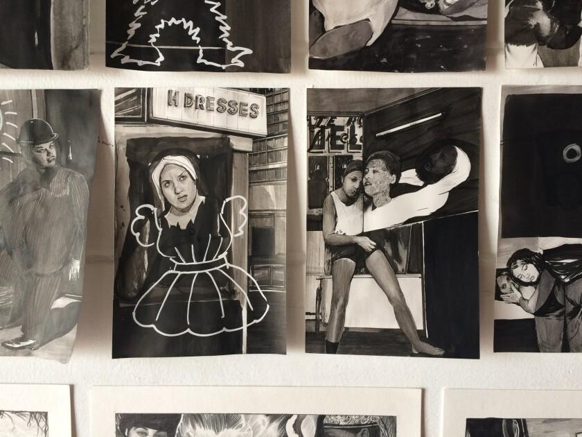 Inside Hugo Crosthwaite's studio in Rosarito