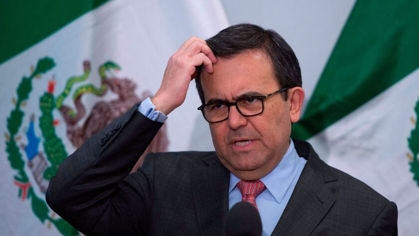 Mexican Secretary of Economy Ildefonso Guajardo, chief negotiator for Mexico during negotiations over NAFTA with Canada and the U.S., said this week Mexico might be willing to review the trade pact every five years.
