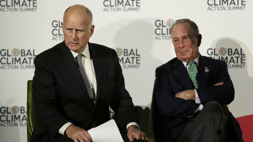 Michael Bloomberg, Jerry Brown