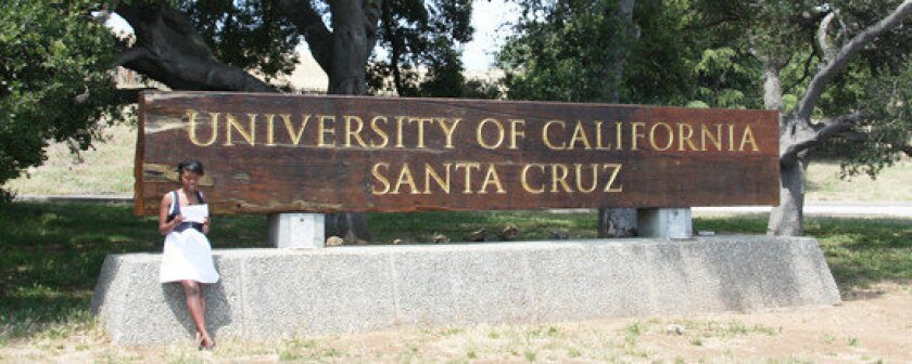 UC Santa Cruz was ordered to evacuate Thursday as a wildfire approached.