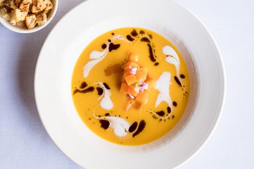Butternut soup from Mille Fleurs.