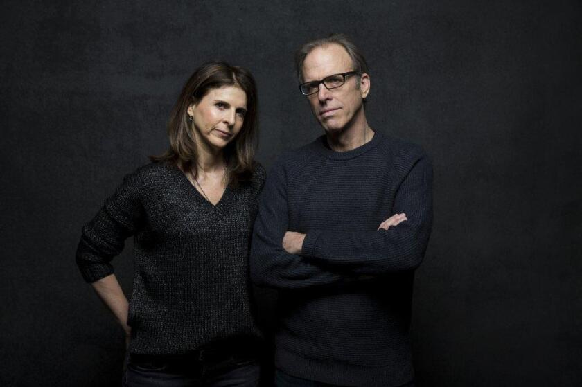 """Amy Ziering and Kirby Dick at the Sundance Film Festival in 2012 for """"The Hunting Ground."""""""