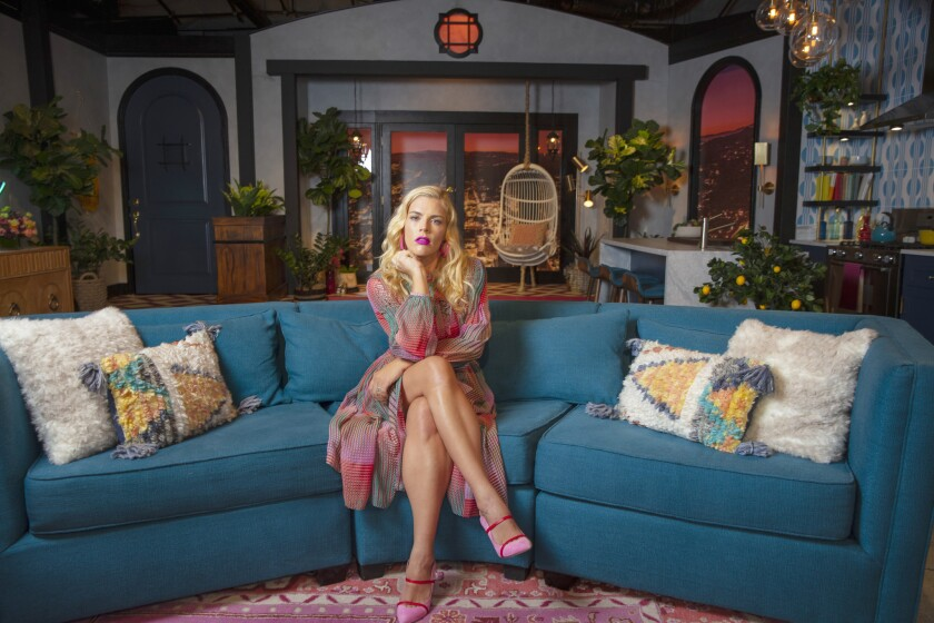 LOS ANGELES, --APRIL 16, 2019--Actress and newest late night TV host, Busy Philipps, is photographed