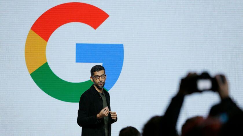 Sundar Pichai is the chief executive of Google, a division of Alphabet.