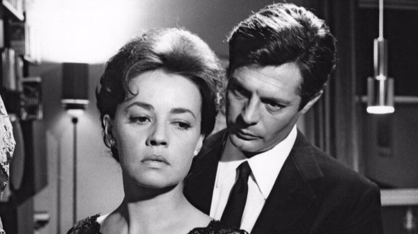 "Jeanne Moreau as Lidia and Marcello Mastroianni as Giovanni Pontano in ""La Notte"" from 1961."