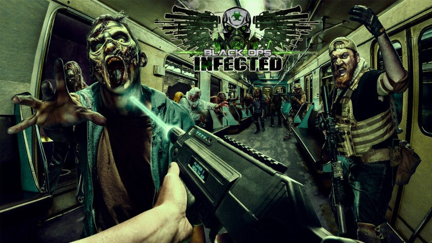 Concept art of the Special Ops: Infected haunted maze coming to Halloween Haunt 2016 at Knott's Berry Farm.