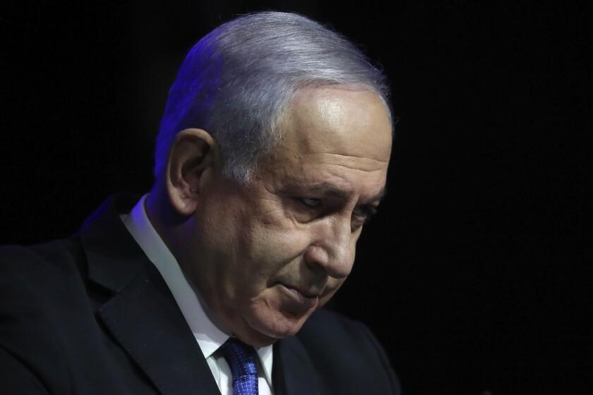 ARCHIVO - En esta foto de archivo del 6 de junio de 2021, el primer ministro israelí Benjamin Netanyahu