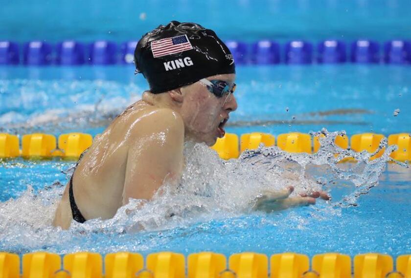 En la imagen, la nadadora estadounidense Lilly King. EFE/Archivo
