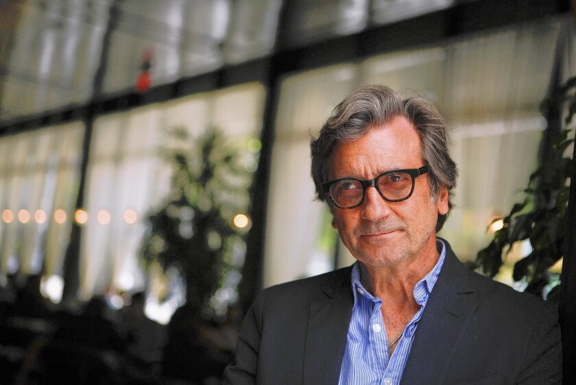 Actor-director Griffin Dunne at Faith and Flower restaurant in Downtown Los Angeles.