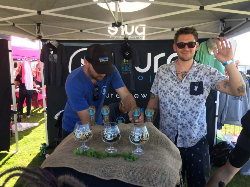 Pure Project beertenders. Held Nov. 3 at downtown San Diego's Embarcadero Marina Park South, Guild Fest was the official kick-off event for San Diego Beer Week 2018.