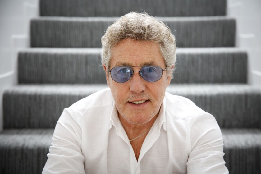 The Who's Roger Daltrey, photographed in 2016 at the Sunset Marquis hotel in West Hollywood.